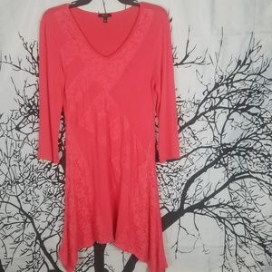 Cupio | Pink Lace Long Sleeve Embellished Tunic s